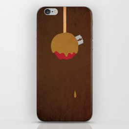 """Candy Apple Surprise"" Halloween Poster iPhone Skin"
