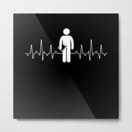 Heartbeat Coach Metal Print