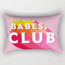 Bad Ass babes club in pink Rectangular Pillow