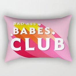 Bad Ass babes club in pink Rectangular Pillow