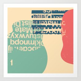 gum letter Art Print