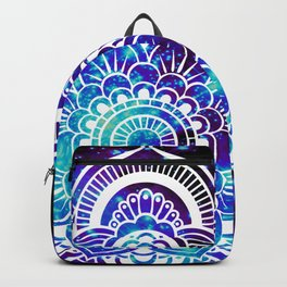 Mandala : Bright Violet & Teal Galaxy Backpack
