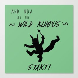 Wild Rumpus (Green) Canvas Print