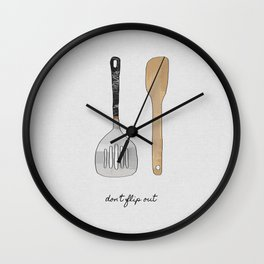 Don't Flip Out Wall Clock