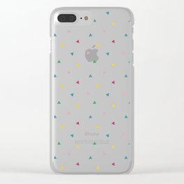 Fresh happy triangels Clear iPhone Case