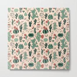 Succulent Desert Metal Print