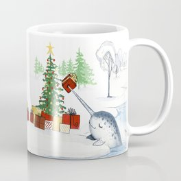 Christmas Narwhal Coffee Mug
