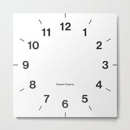 Time Clock 2 Metal Print