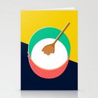baking Stationery Cards featuring Baking Bowl by Sam Osborne