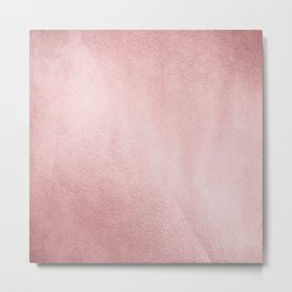 Simply Rose Gold Sunset Metal Print