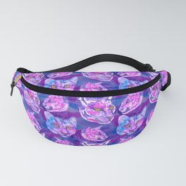 Ink purple cougars seamless pattern Fanny Pack