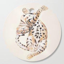 Cute Stretching Bengal Kitten Cutting Board