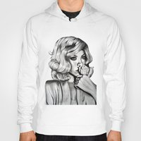 rihanna Hoodies featuring Rihanna by Ellie Wilson Designs