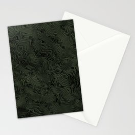Green Silk Moire Pattern Stationery Cards