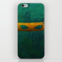 tmnt iPhone & iPod Skins featuring TMNT Mikey by Some_Designs
