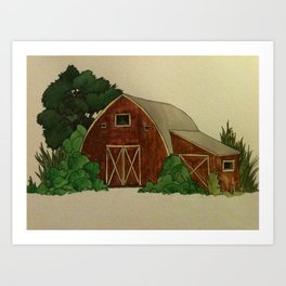 The Farm Art Print
