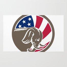 Republican Elephant Mascot USA Flag Rug