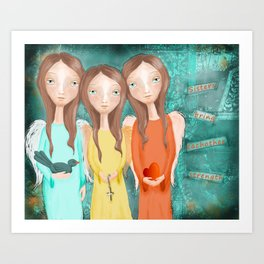 The Strength of Sisters Art Print