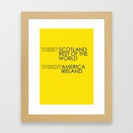 Whisky or Whiskey? Framed Art Print