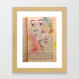 InBetween The Lines Framed Art Print