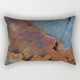 Colored Wood Rectangular Pillow
