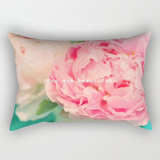 {You are beautiful} Rectangular Pillow