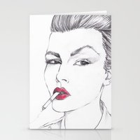 ruby Stationery Cards featuring RUBY by Rachel E Murray