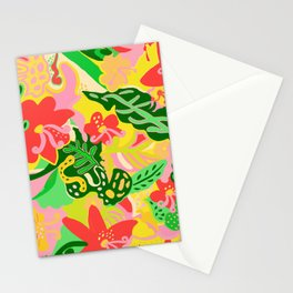 The Life Of Plants - Coral, Lemon & Mint Stationery Cards