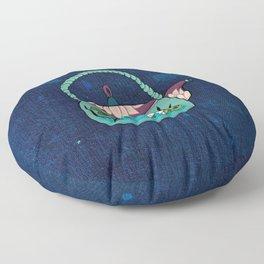 Minhwa: Mint Teapot (Korean traditional/folk art) Floor Pillow