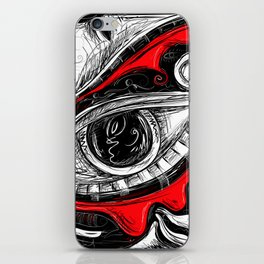 The Red tears  Prints iPhone Skin