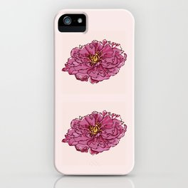 Peony iPhone Case