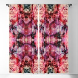 Colorful Abstract Batik Butterfly Rorschach Ink Blot Art Space Galaxy No6 Blackout Curtain