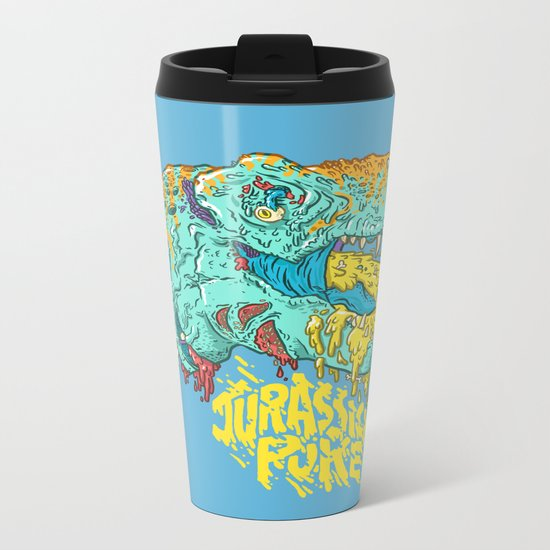 Jurassick Puke Metal Travel Mug