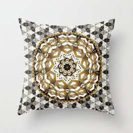 Cubes in cubes in cubes Throw Pillow