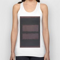 rothko Tank Tops featuring Black on Maroon 1958 by Mark Rothko by mJdesign