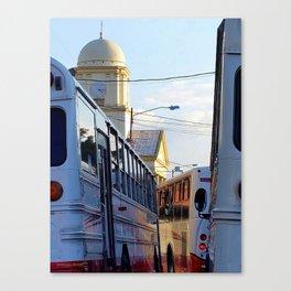 Alajuela Buses Canvas Print