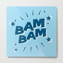 Bam Bam Blue Metal Print