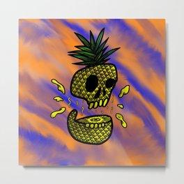 Pine-app-skull Metal Print