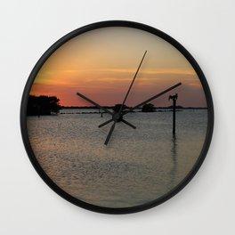 A Twinkling Twilight Hour Wall Clock