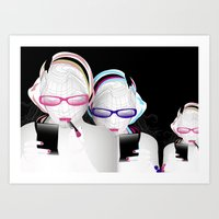 girly Art Prints featuring Girly by Stéphanie Brusick / Art by shop