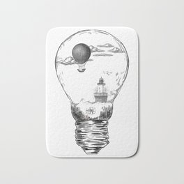 Aquarium Bulb Lighthouse Bath Mat