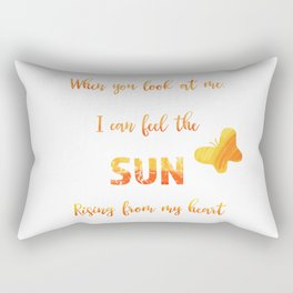 Sunny anniversary love quote Rectangular Pillow