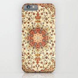 N71 - Orange Antique Heritage Traditional Moroccan Style Mandala Artwork iPhone Case