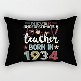 Teacher born in 1934 90th Birthday Gift Teaching Rectangular Pillow