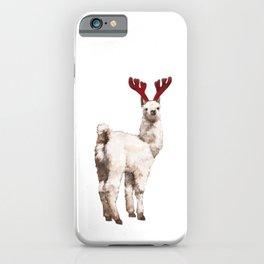 Christmas Baby Llama Reindeer iPhone Case