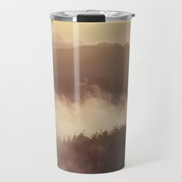 Sunset over the clouds Travel Mug