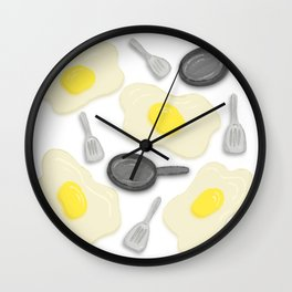 Fried Egg and the Frying Pan Wall Clock
