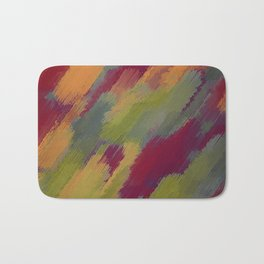 red orange brown and green painting texture abstract background Bath Mat