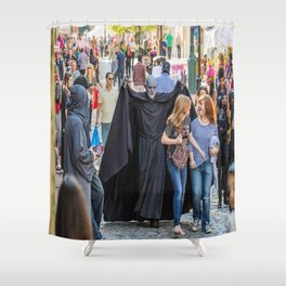 Essex Street during Haunted Happenings Shower Curtain