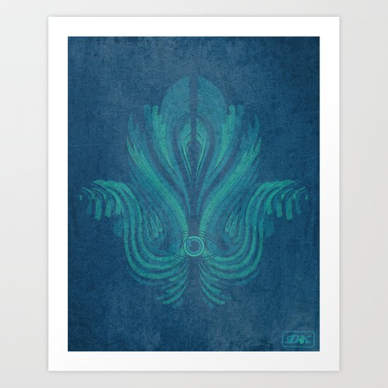 The Watcher's Hamsa Art Print